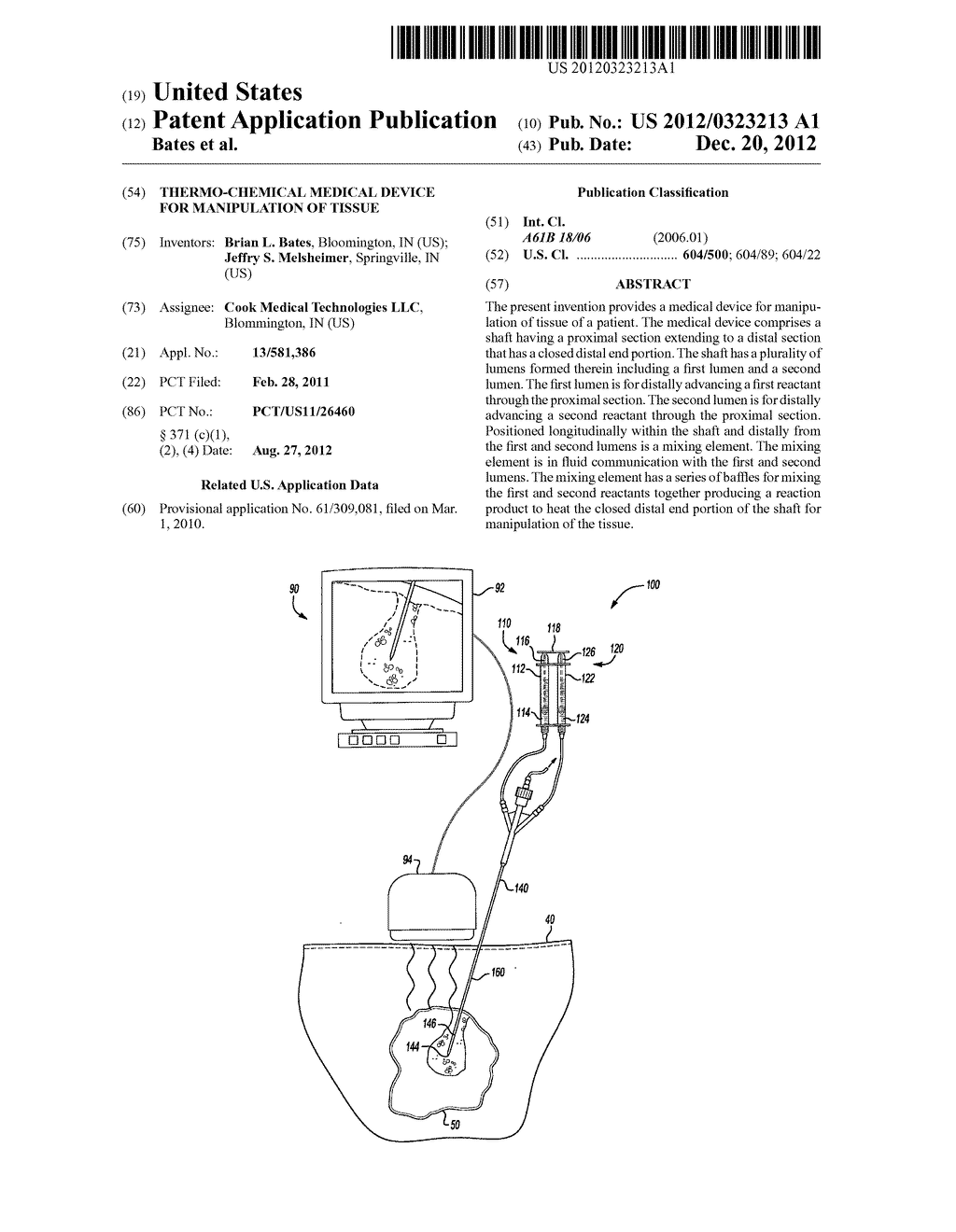 THERMO-CHEMICAL MEDICAL DEVICE FOR MANIPULATION OF TISSUE - diagram, schematic, and image 01
