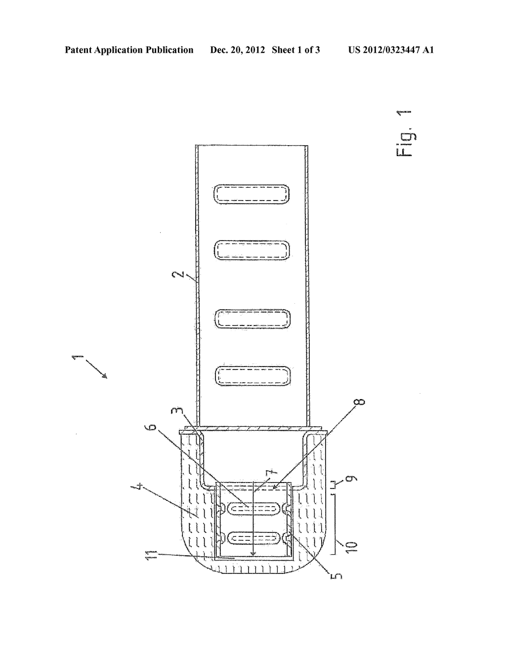 BUMPER ARRANGEMENT FOR AN AUTOMOBILE AND METHOD FOR OPERATING A BUMPER     ARRANGEMENT IN A CRASH - diagram, schematic, and image 02