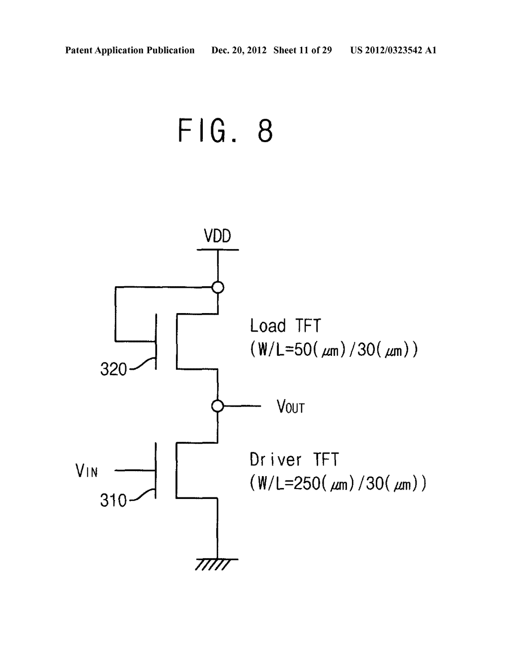 METHOD FOR CALCULATING PARAMETER VALUES OF THIN-FILM TRANSISTOR AND     APPARATUS FOR PERFORMING THE METHOD - diagram, schematic, and image 12