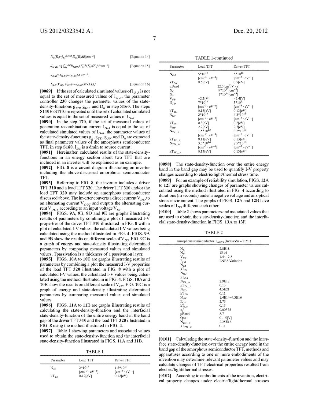 METHOD FOR CALCULATING PARAMETER VALUES OF THIN-FILM TRANSISTOR AND     APPARATUS FOR PERFORMING THE METHOD - diagram, schematic, and image 37