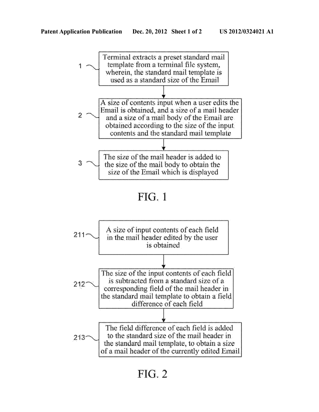 Method and Apparatus for Obtaining Size of Emails of Terminal - diagram, schematic, and image 02