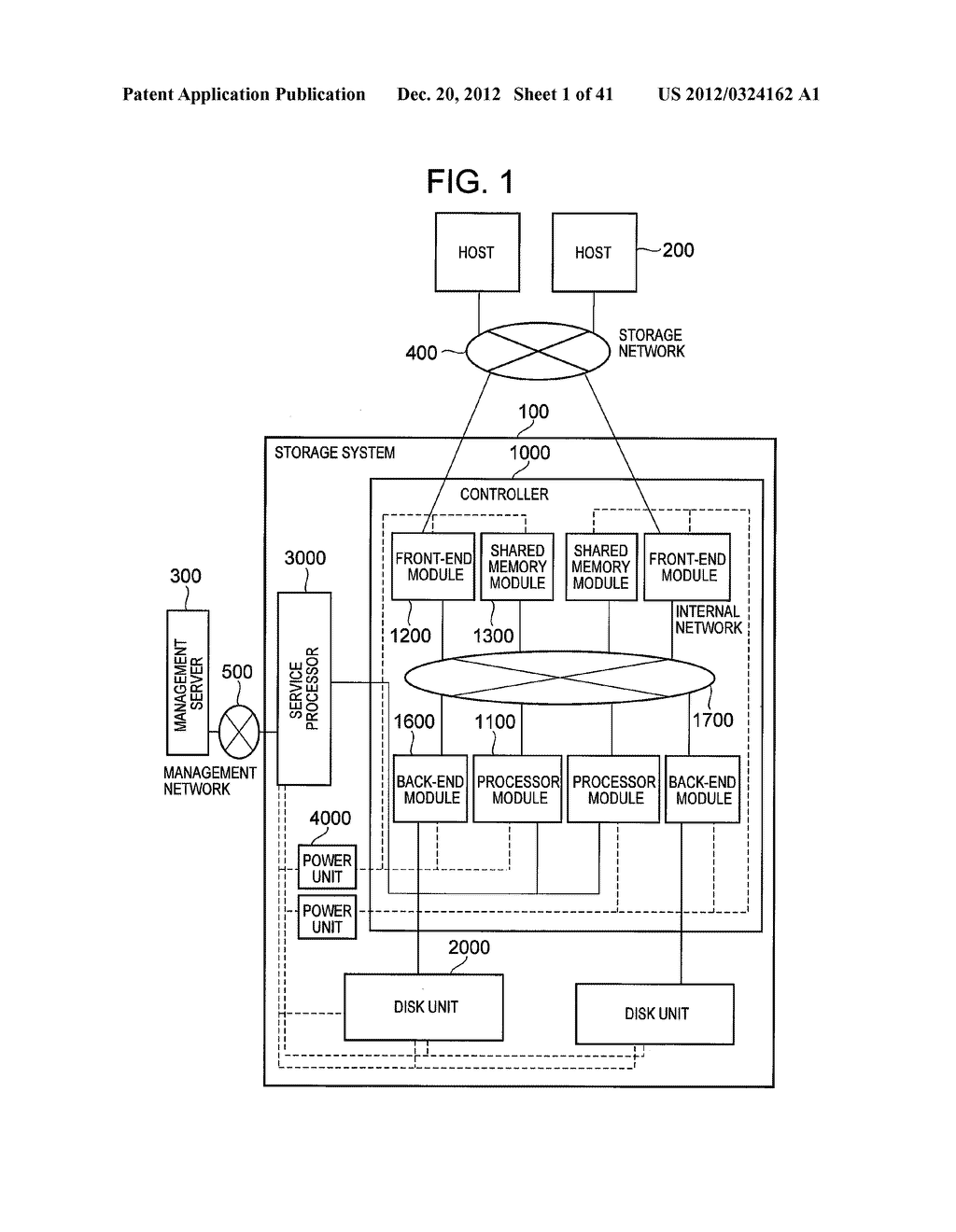 STORAGE SYSTEM COMPRISING FUNCTION FOR REDUCING POWER CONSUMPTION - diagram, schematic, and image 02