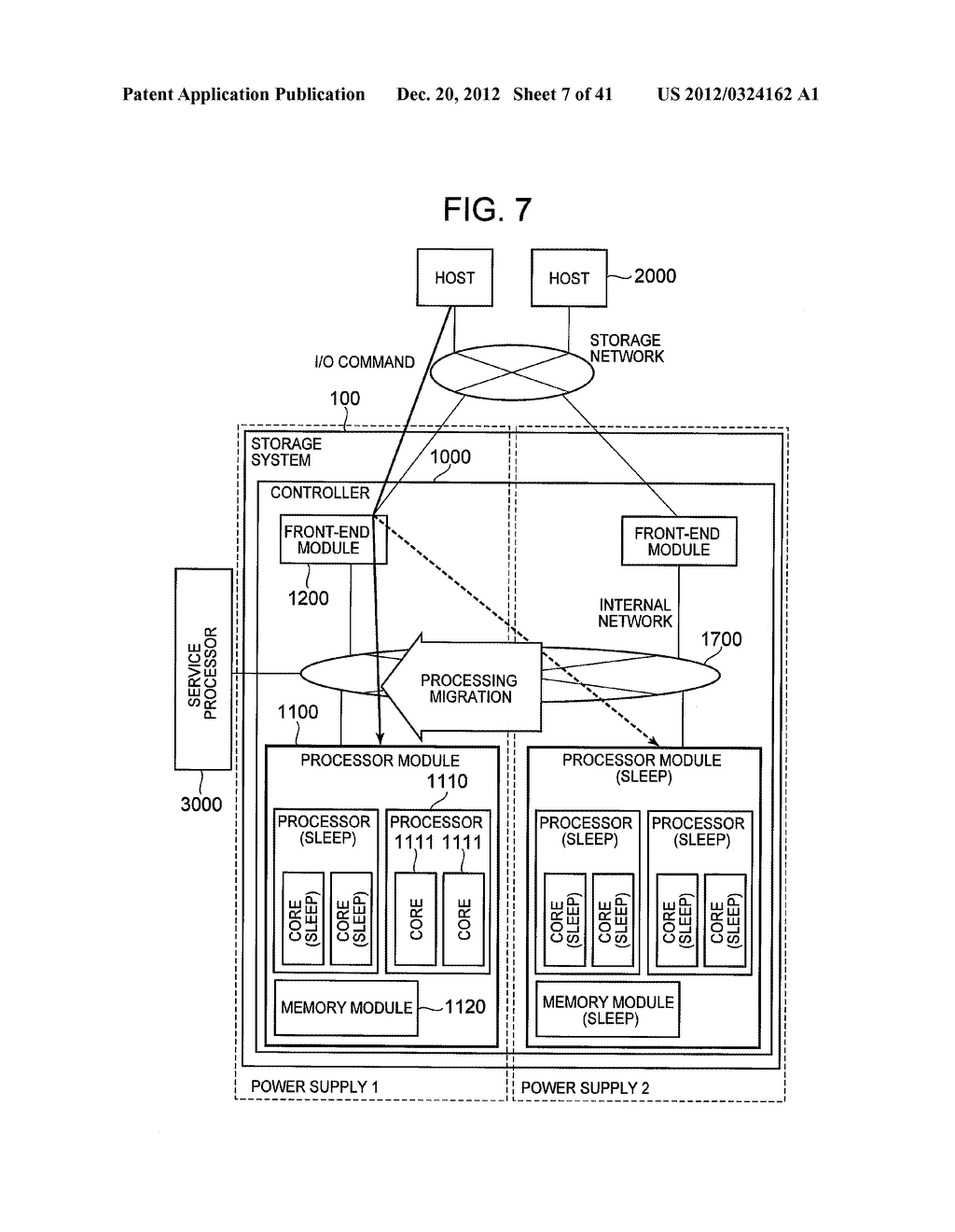 STORAGE SYSTEM COMPRISING FUNCTION FOR REDUCING POWER CONSUMPTION - diagram, schematic, and image 08