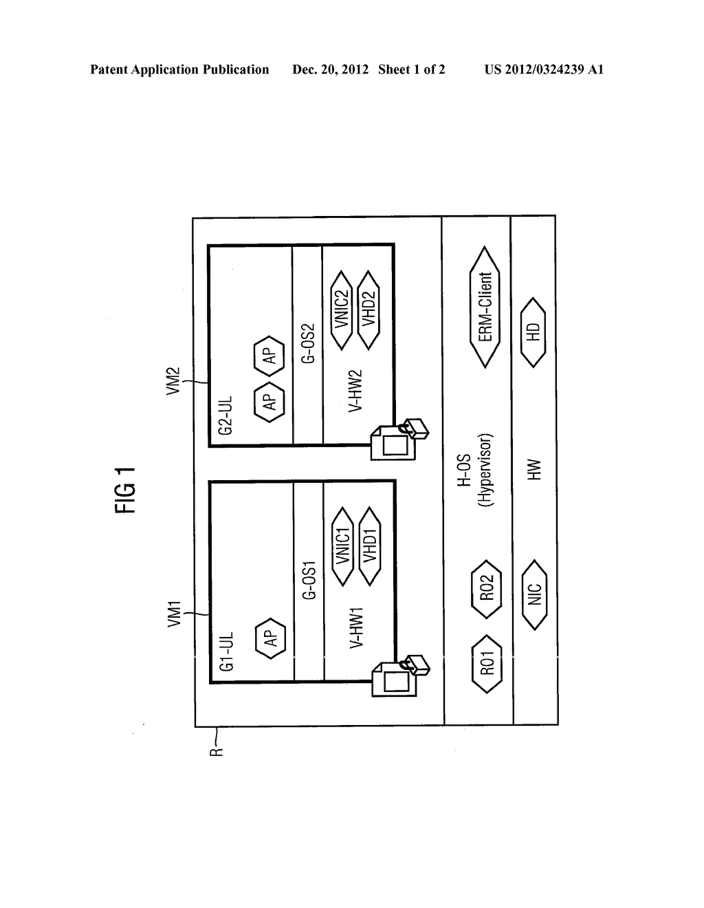 METHOD AND DEVICE FOR OPERATING A VIRTUAL MACHINE IN ACCORDANCE WITH AN     ASSOCIATED INFORMATION ON ASSIGNMENT OF RIGHTS - diagram, schematic, and image 02