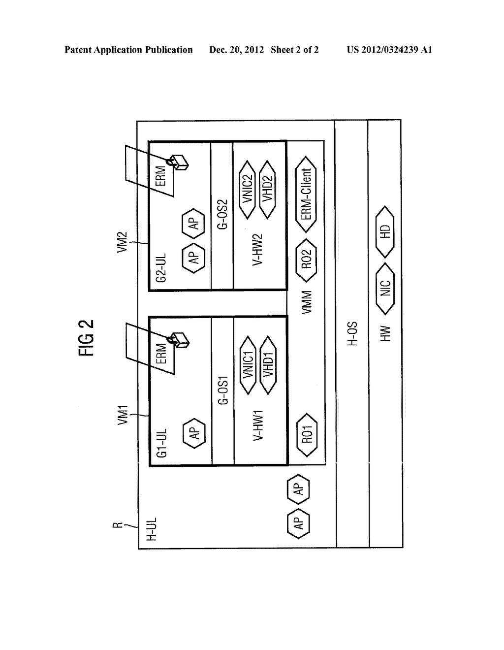 METHOD AND DEVICE FOR OPERATING A VIRTUAL MACHINE IN ACCORDANCE WITH AN     ASSOCIATED INFORMATION ON ASSIGNMENT OF RIGHTS - diagram, schematic, and image 03
