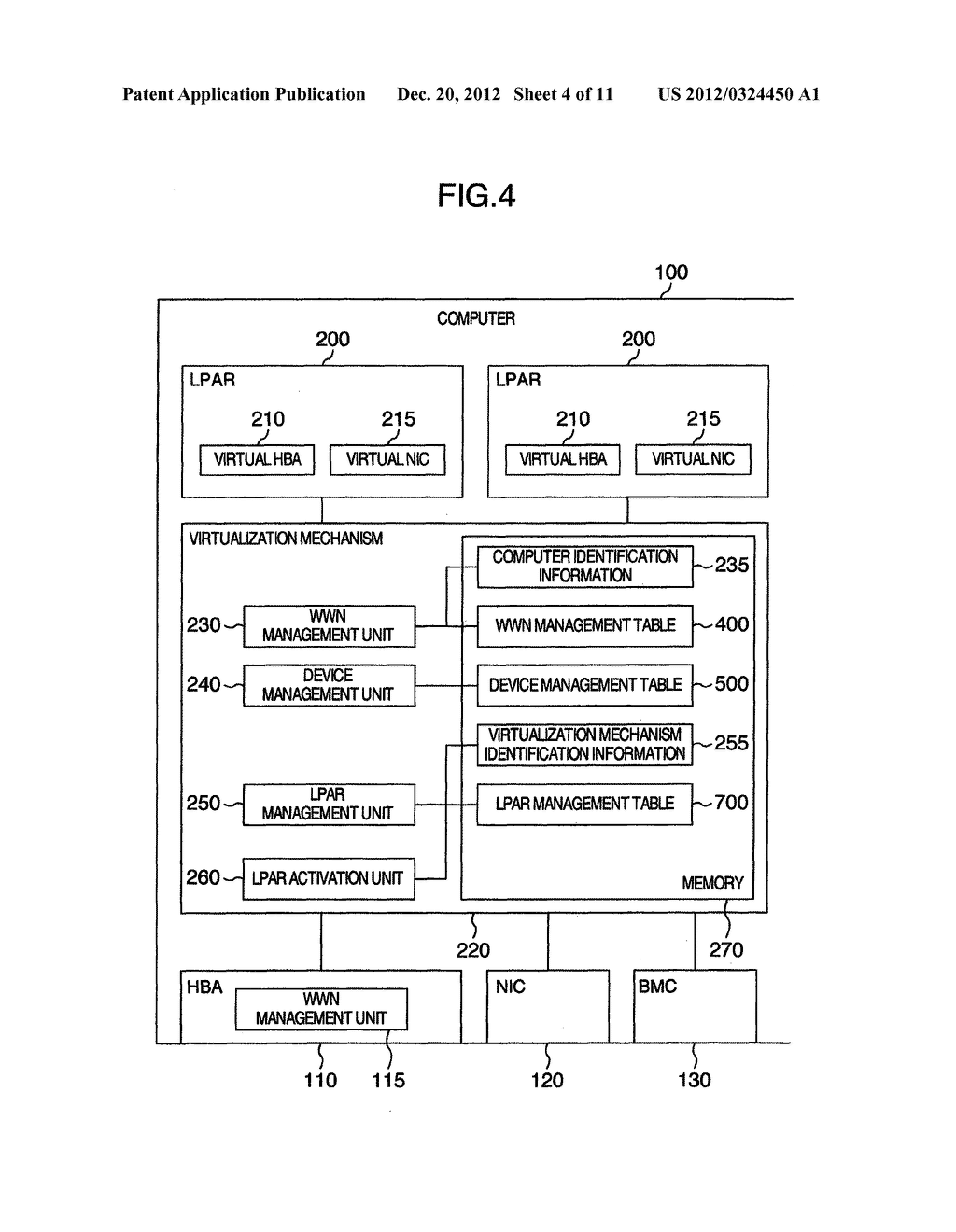 COMPUTER SYSTEM, VIRTUAL COMPUTER SYSTEM, COMPUTER ACTIVATION MANAGEMENT     METHOD AND VIRTUAL COMPUTER ACTIVATION MANAGEMENT METHOD - diagram, schematic, and image 05