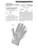 GLOVE HAVING REGION OF BOTH HIGH COEFFICIENT OF FRICTION AND HIGH     PERMEABILITY TO AMBIENT AIR diagram and image