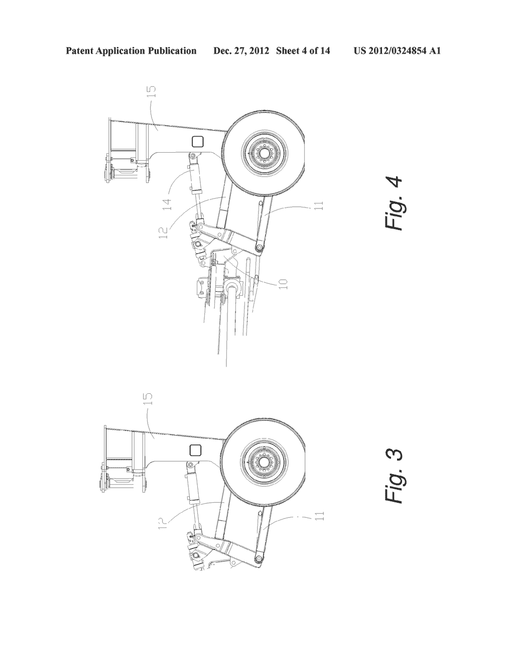 Self-Leveling Four-Bar Linkage for Suspending a Header of an Agricultural     Implement - diagram, schematic, and image 05