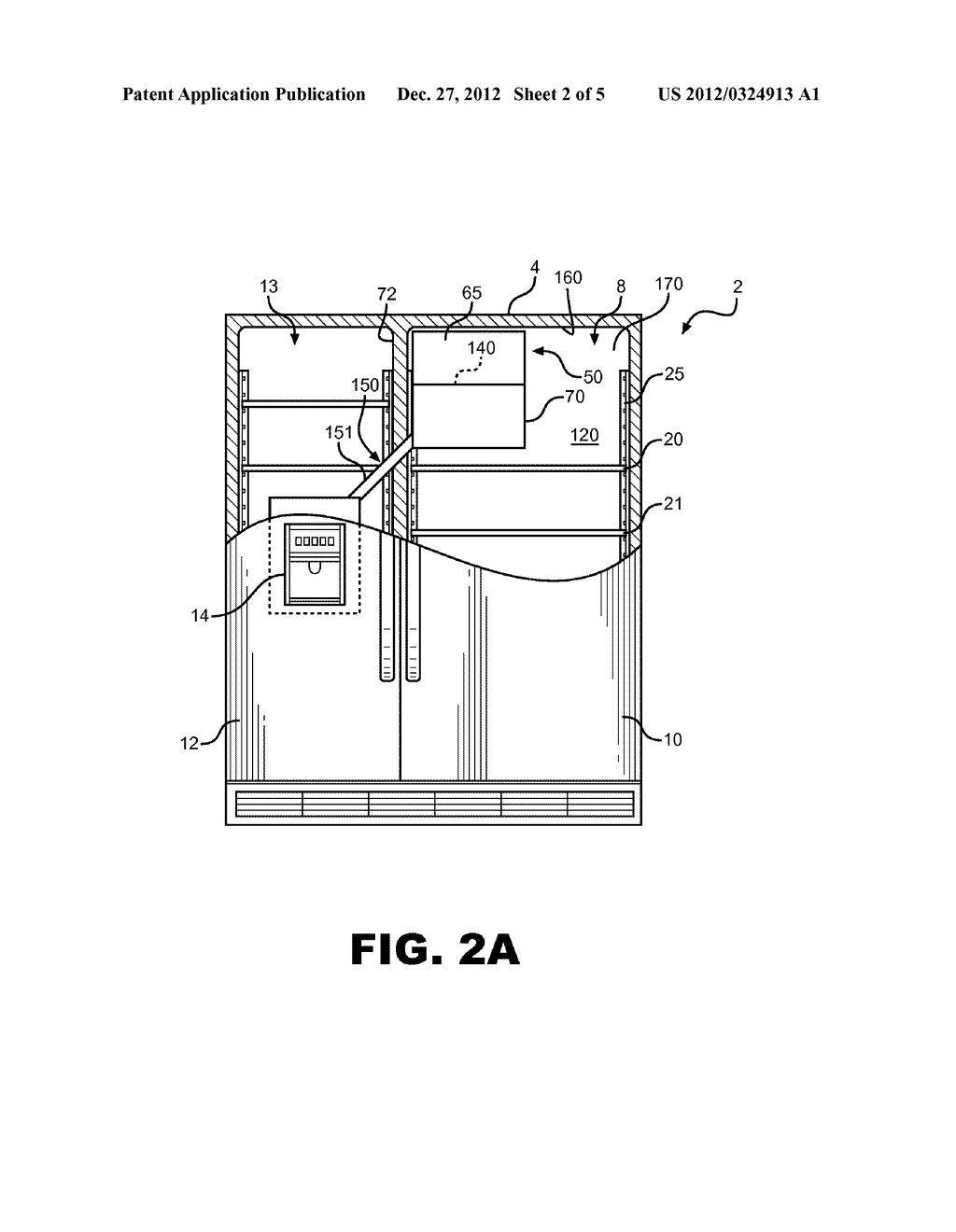 ICE MAKING, TRANSFERRING, STORING AND DISPENSING SYSTEM FOR A REFRIGERATOR - diagram, schematic, and image 03