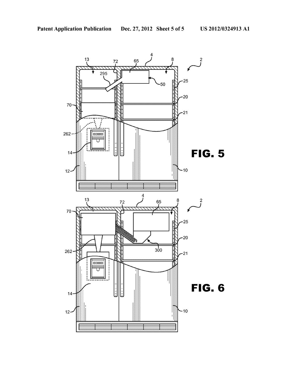 ICE MAKING, TRANSFERRING, STORING AND DISPENSING SYSTEM FOR A REFRIGERATOR - diagram, schematic, and image 06