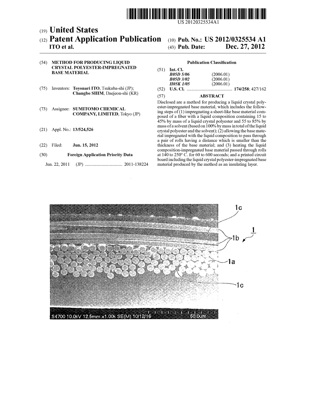 METHOD FOR PRODUCING LIQUID CRYSTAL POLYESTER-IMPREGNATED BASE MATERIAL - diagram, schematic, and image 01