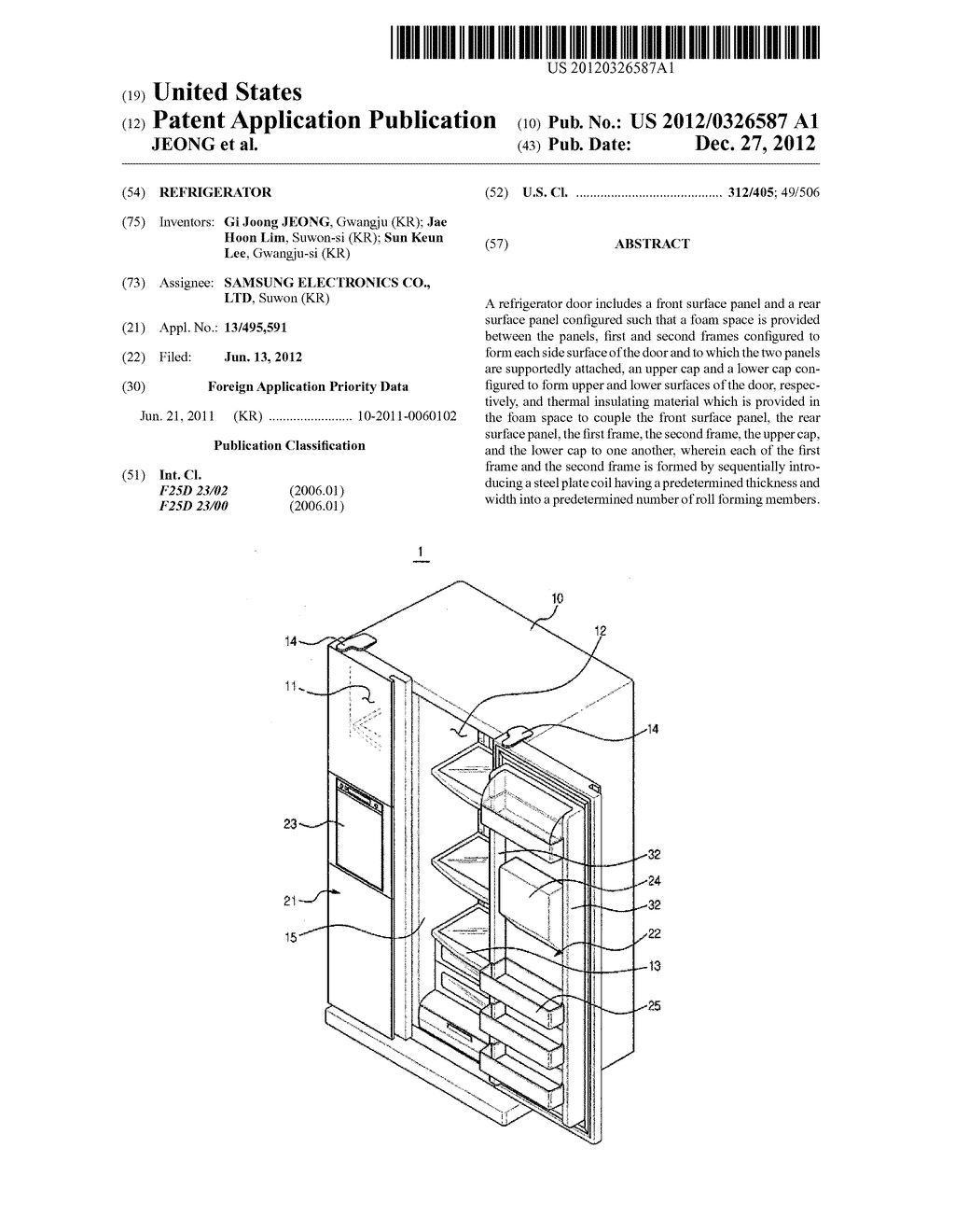 REFRIGERATOR - diagram, schematic, and image 01