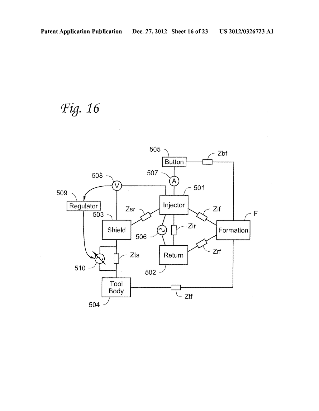 Apparatus and Method for Actively Balancing Impedance of A Resistivity     Measuring Tool - diagram, schematic, and image 17