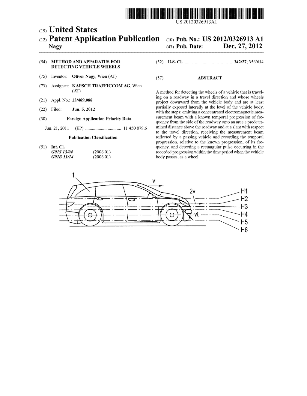 METHOD AND APPARATUS FOR DETECTING VEHICLE WHEELS - diagram, schematic, and image 01