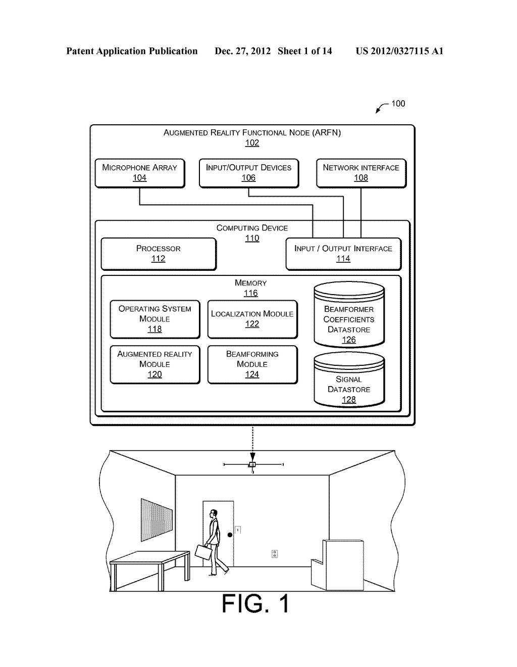 Signal-enhancing Beamforming in an Augmented Reality Environment - diagram, schematic, and image 02