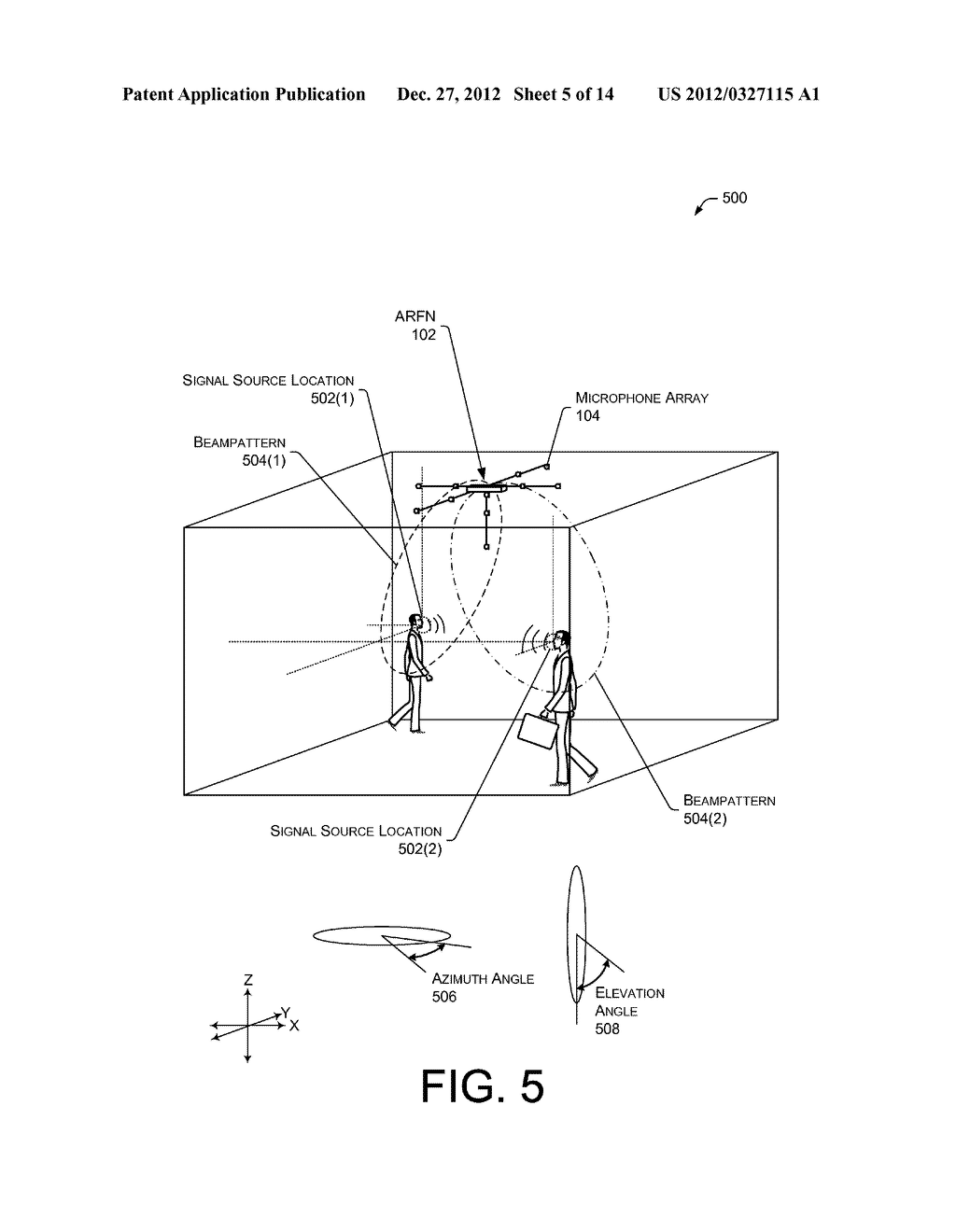 Signal-enhancing Beamforming in an Augmented Reality Environment - diagram, schematic, and image 06