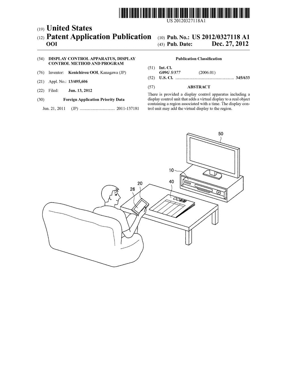 DISPLAY CONTROL APPARATUS, DISPLAY CONTROL METHOD AND PROGRAM - diagram, schematic, and image 01