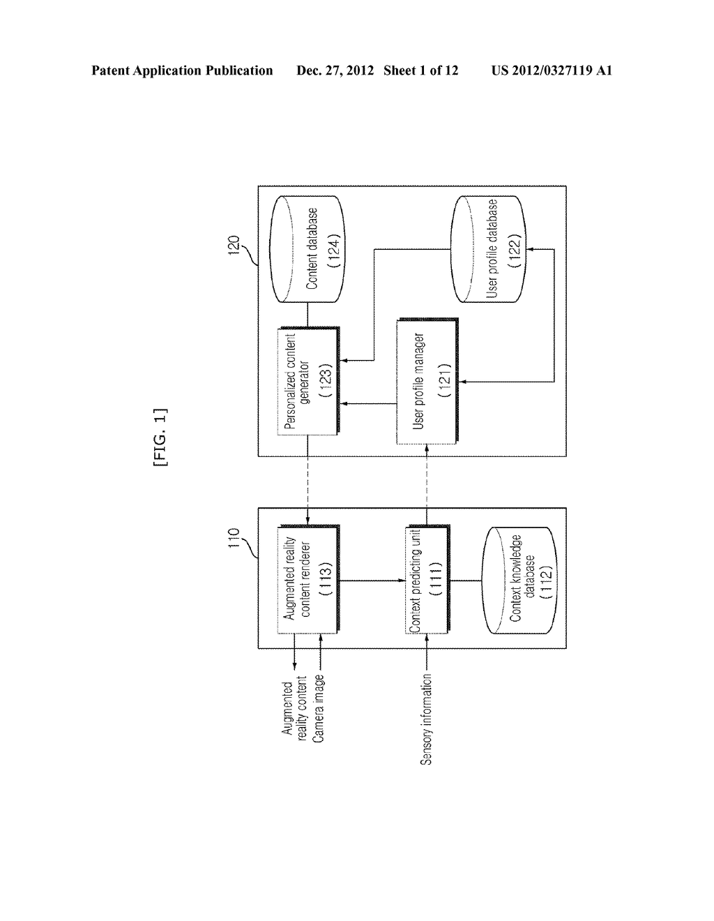 USER ADAPTIVE AUGMENTED REALITY MOBILE COMMUNICATION DEVICE, SERVER AND     METHOD THEREOF - diagram, schematic, and image 02