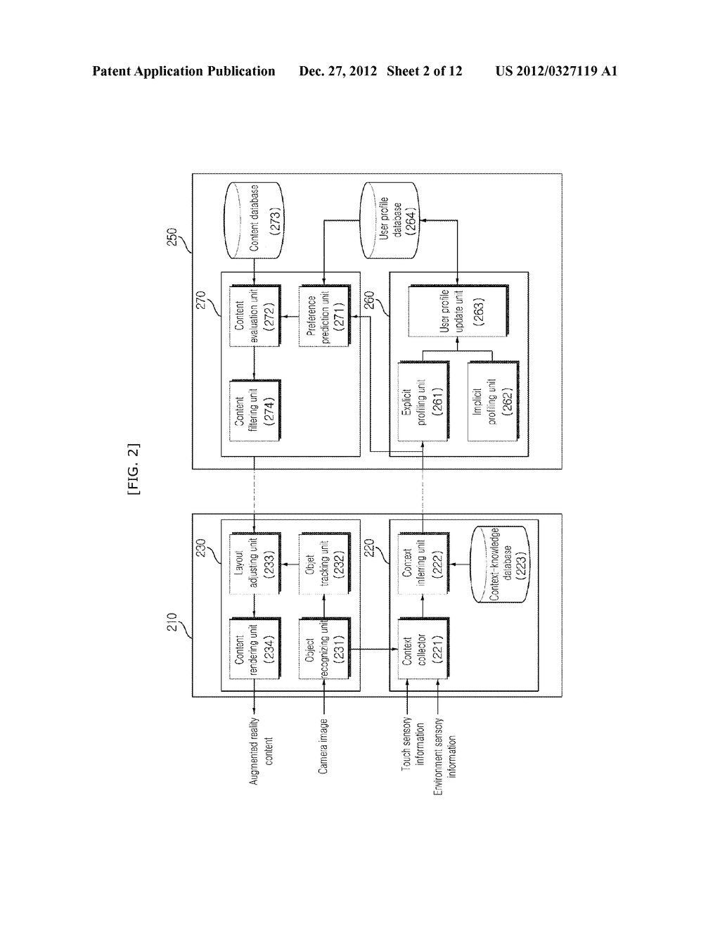 USER ADAPTIVE AUGMENTED REALITY MOBILE COMMUNICATION DEVICE, SERVER AND     METHOD THEREOF - diagram, schematic, and image 03