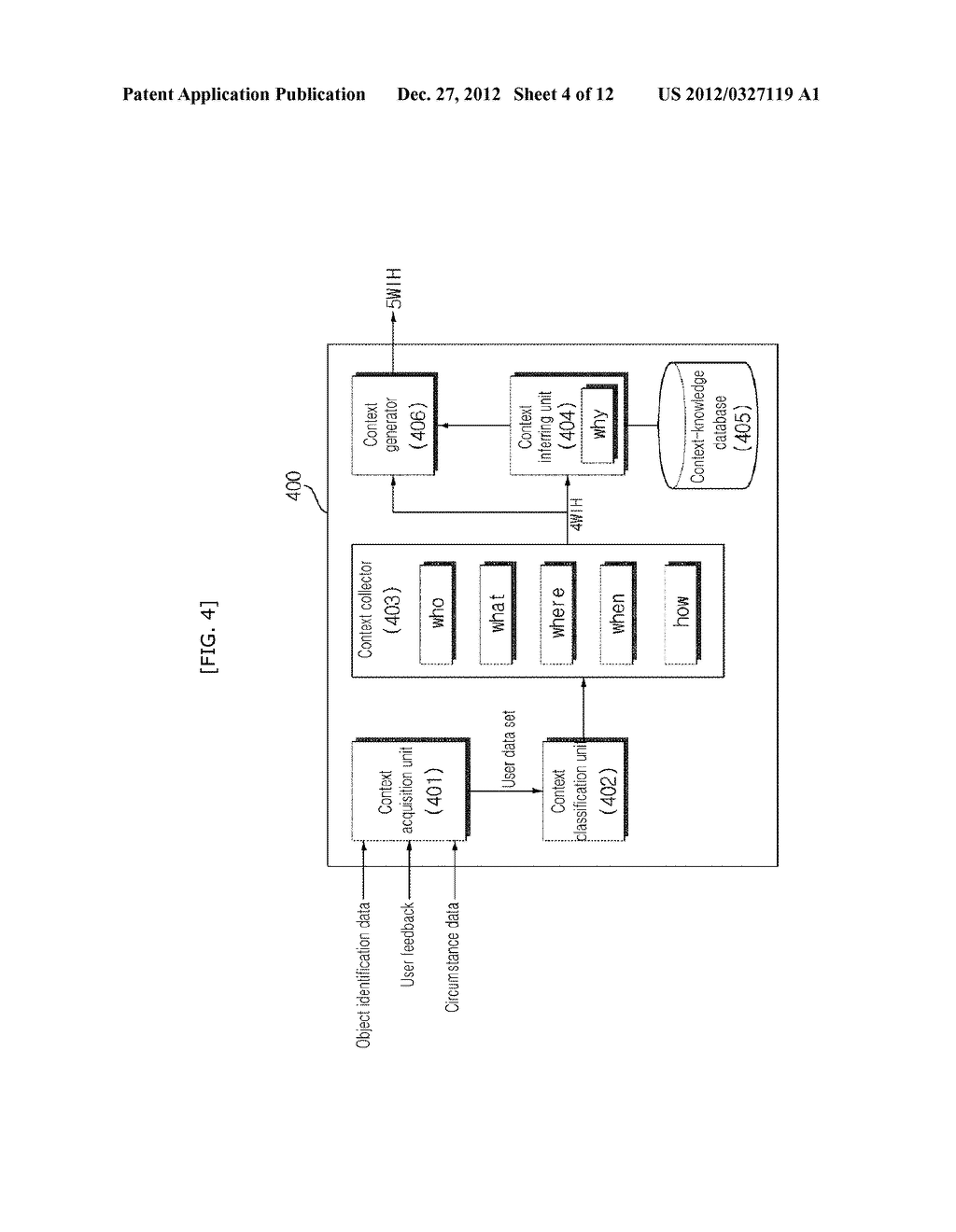 USER ADAPTIVE AUGMENTED REALITY MOBILE COMMUNICATION DEVICE, SERVER AND     METHOD THEREOF - diagram, schematic, and image 05