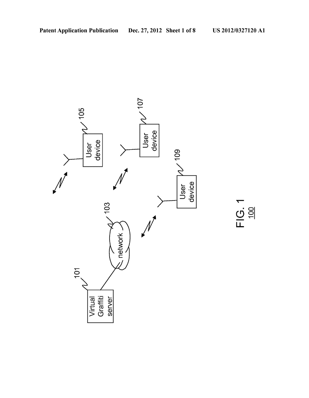 METHOD AND APPARATUS FOR CREATING VIRTUAL GRAFFITI IN A MOBILE VIRTUAL AND     AUGMENTED REALITY SYSTEM - diagram, schematic, and image 02