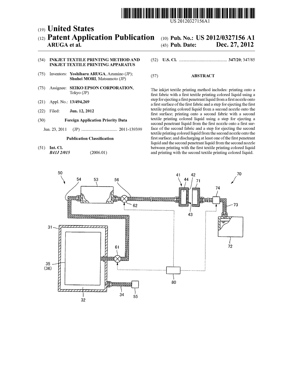 INKJET TEXTILE PRINTING METHOD AND INKJET TEXTILE PRINTING APPARATUS - diagram, schematic, and image 01