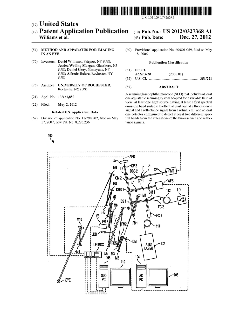 METHOD AND APPARATUS FOR IMAGING IN AN EYE - diagram, schematic, and image 01