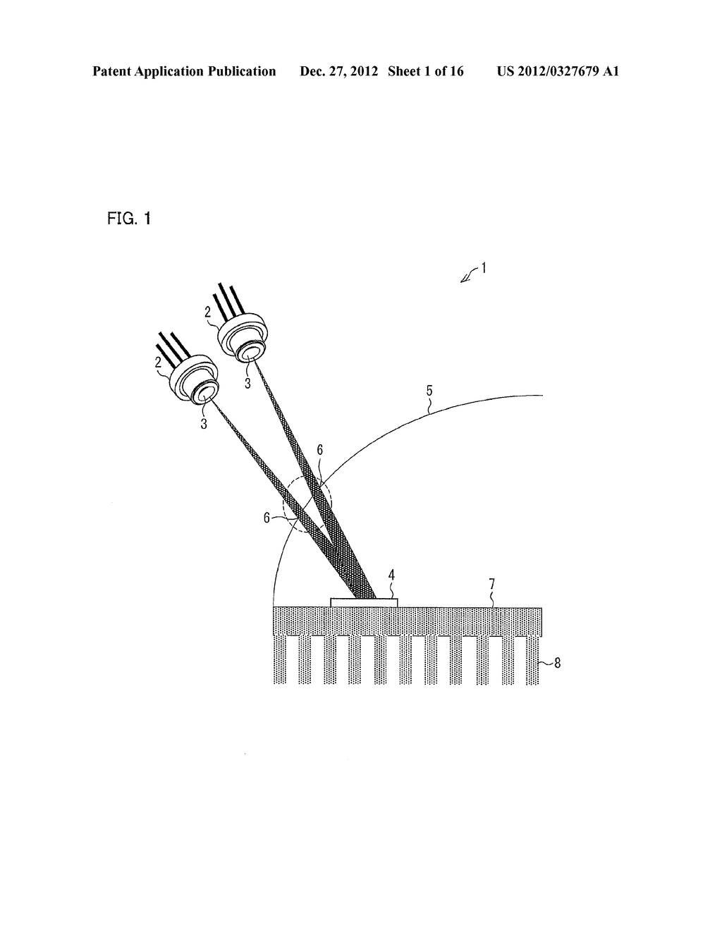LIGHT EMITTING DEVICE, HEADLIGHT FOR A VEHICLE, AND ILLUMINATION DEVICE - diagram, schematic, and image 02