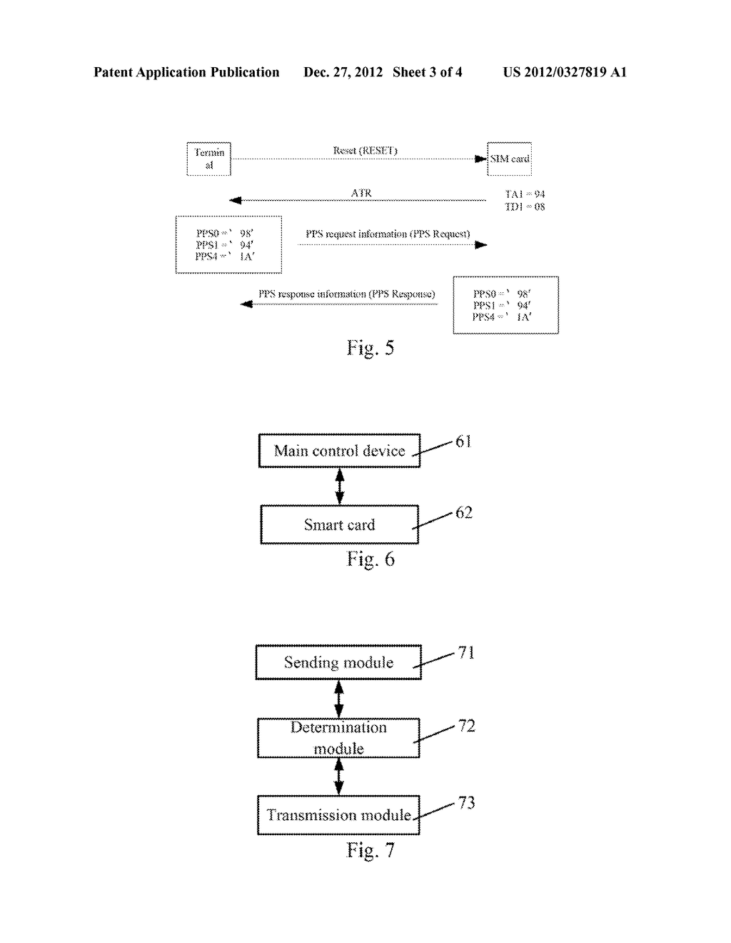 Implementation method and system, main control device and smart card for     information transmission - diagram, schematic, and image 04