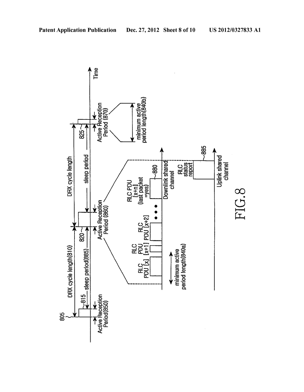METHOD AND APPARATUS FOR DISCONTINUOUS RECEPTION OF CONNECTED TERMINAL IN     A MOBILE COMMUNICATION SYSTEM - diagram, schematic, and image 09