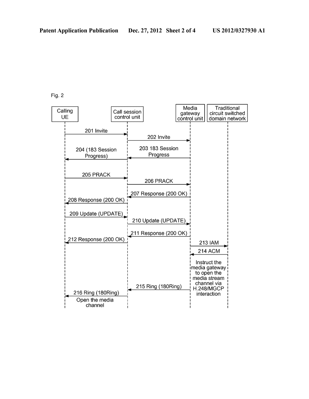 Method and System For Calling Traditional Circuit Switched Domain Network     User By Packet Core Network - diagram, schematic, and image 03
