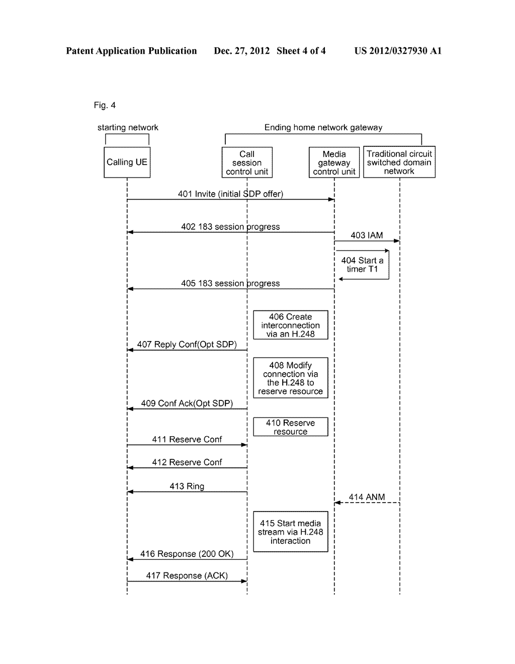 Method and System For Calling Traditional Circuit Switched Domain Network     User By Packet Core Network - diagram, schematic, and image 05