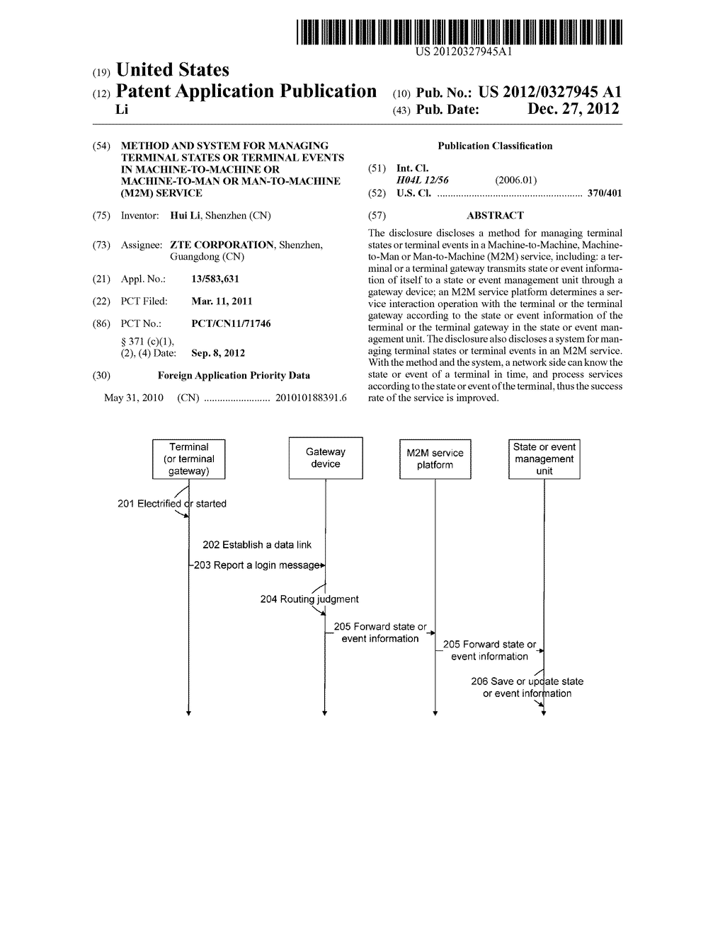 Method and system for managing terminal states or terminal events in     machine-to-machine or machine-to-man or man-to-machine (M2M) service - diagram, schematic, and image 01
