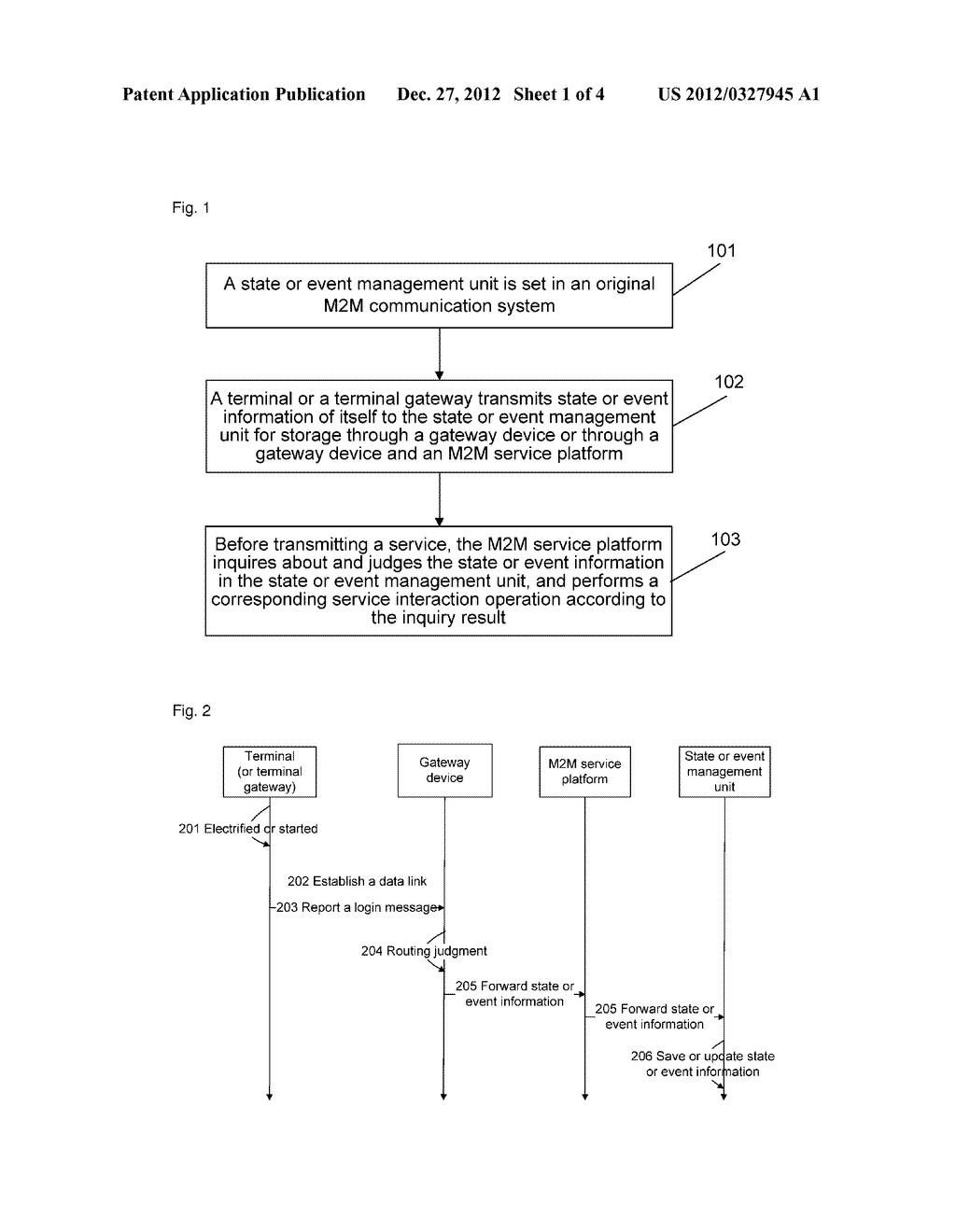 Method and system for managing terminal states or terminal events in     machine-to-machine or machine-to-man or man-to-machine (M2M) service - diagram, schematic, and image 02