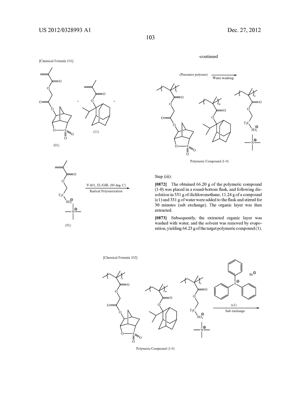 METHOD OF PRODUCING POLYMERIC COMPOUND, RESIST COMPOSITION, AND METHOD OF     FORMING RESIST PATTERN - diagram, schematic, and image 104