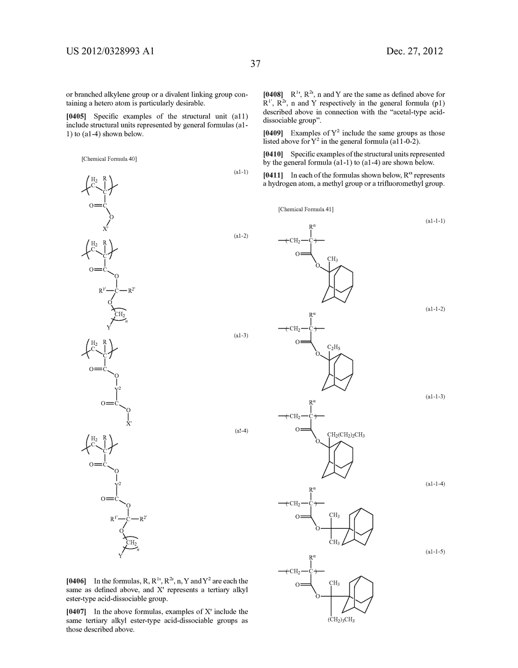 METHOD OF PRODUCING POLYMERIC COMPOUND, RESIST COMPOSITION, AND METHOD OF     FORMING RESIST PATTERN - diagram, schematic, and image 38