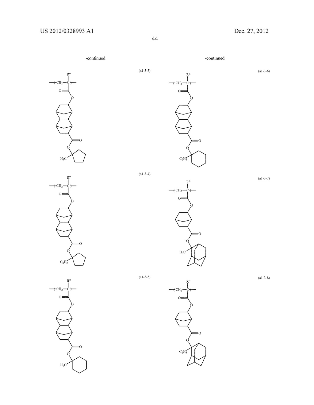 METHOD OF PRODUCING POLYMERIC COMPOUND, RESIST COMPOSITION, AND METHOD OF     FORMING RESIST PATTERN - diagram, schematic, and image 45