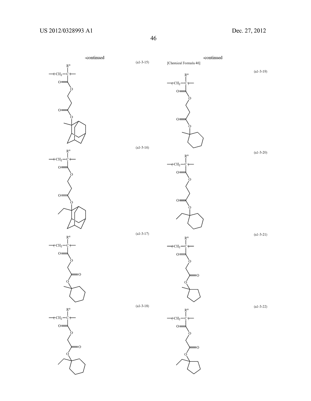 METHOD OF PRODUCING POLYMERIC COMPOUND, RESIST COMPOSITION, AND METHOD OF     FORMING RESIST PATTERN - diagram, schematic, and image 47