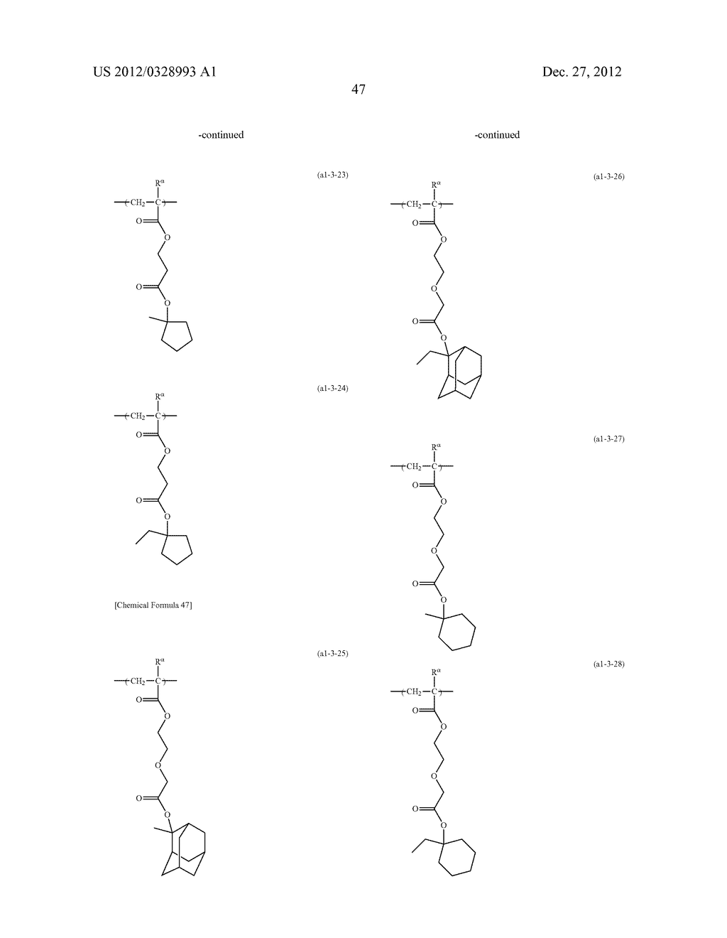 METHOD OF PRODUCING POLYMERIC COMPOUND, RESIST COMPOSITION, AND METHOD OF     FORMING RESIST PATTERN - diagram, schematic, and image 48