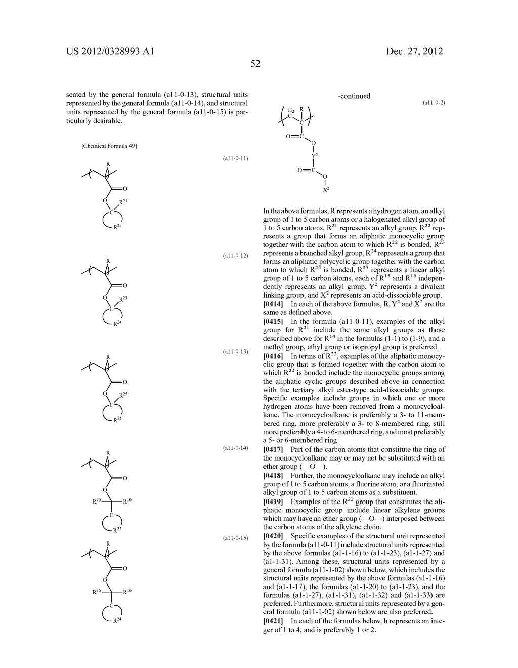 METHOD OF PRODUCING POLYMERIC COMPOUND, RESIST COMPOSITION, AND METHOD OF     FORMING RESIST PATTERN - diagram, schematic, and image 53