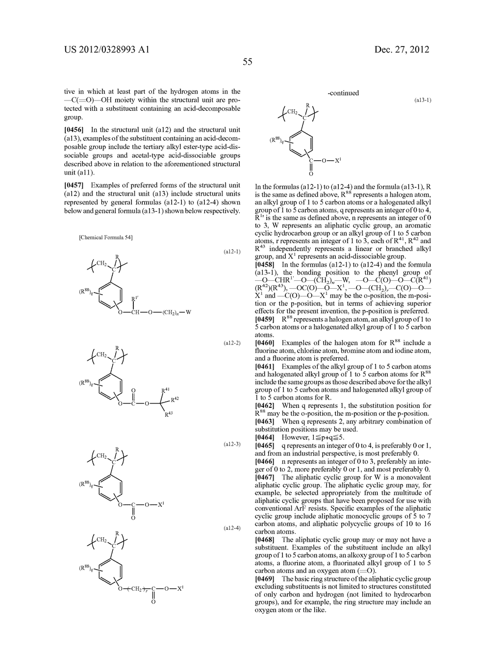 METHOD OF PRODUCING POLYMERIC COMPOUND, RESIST COMPOSITION, AND METHOD OF     FORMING RESIST PATTERN - diagram, schematic, and image 56