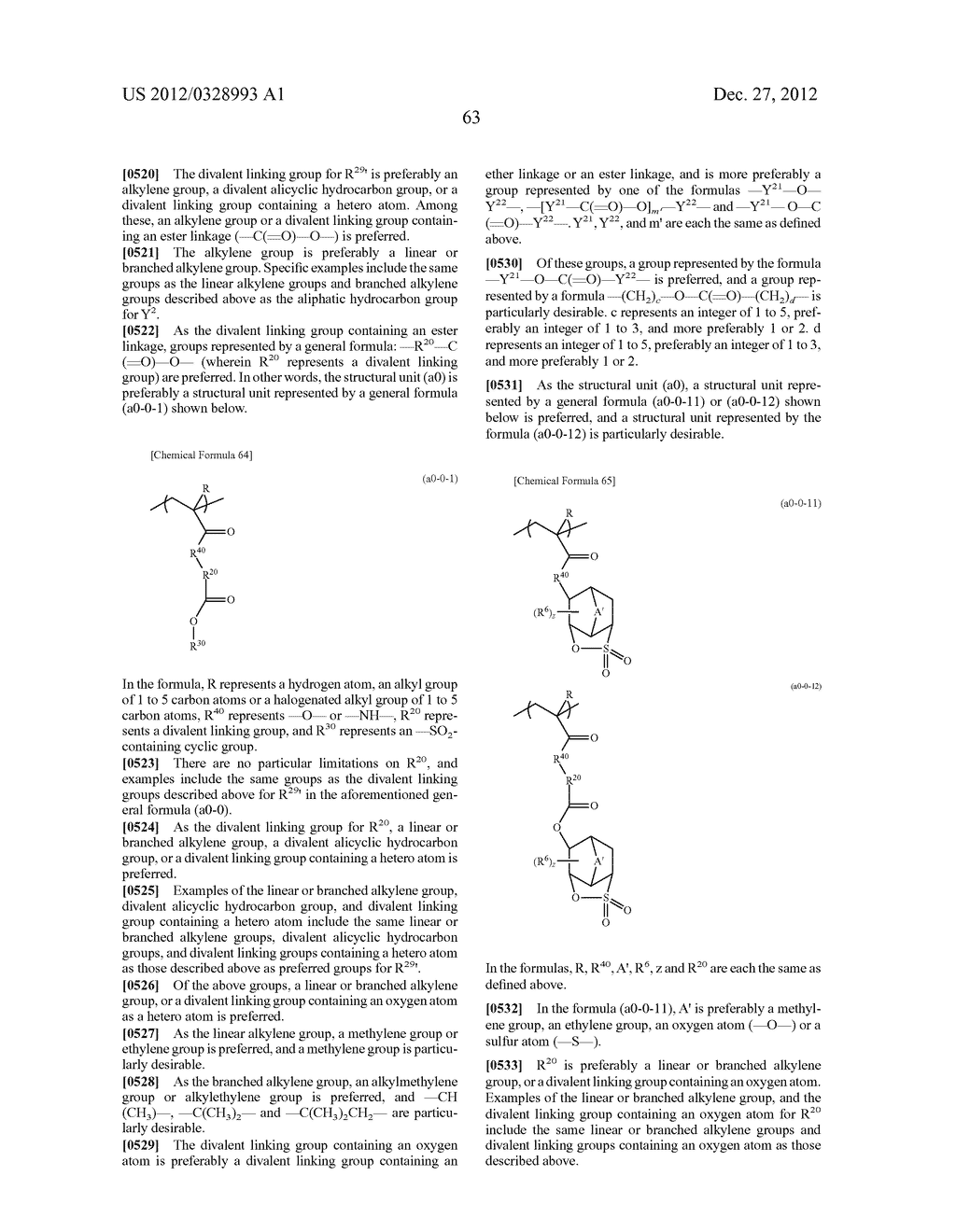 METHOD OF PRODUCING POLYMERIC COMPOUND, RESIST COMPOSITION, AND METHOD OF     FORMING RESIST PATTERN - diagram, schematic, and image 64
