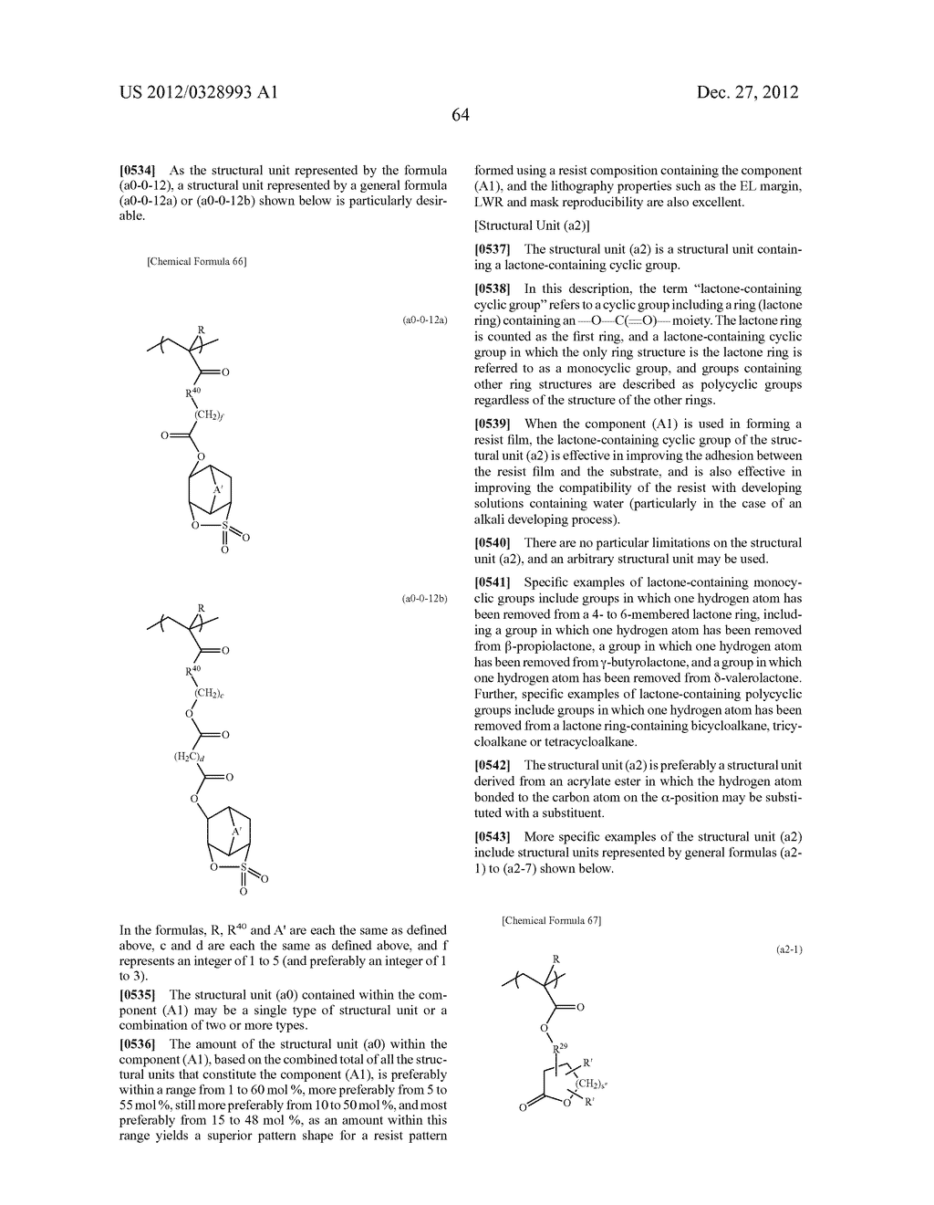 METHOD OF PRODUCING POLYMERIC COMPOUND, RESIST COMPOSITION, AND METHOD OF     FORMING RESIST PATTERN - diagram, schematic, and image 65