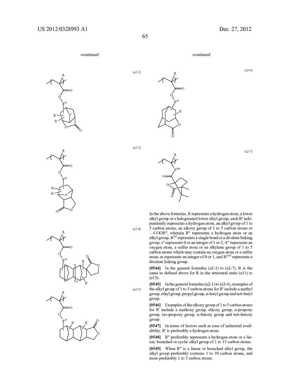 METHOD OF PRODUCING POLYMERIC COMPOUND, RESIST COMPOSITION, AND METHOD OF     FORMING RESIST PATTERN - diagram, schematic, and image 66