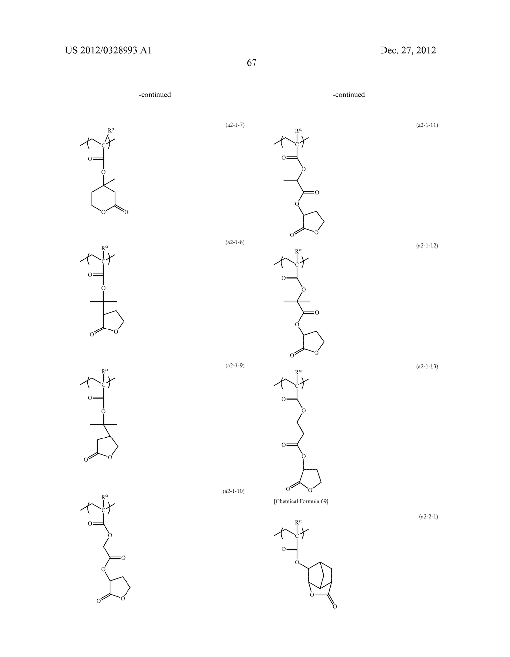 METHOD OF PRODUCING POLYMERIC COMPOUND, RESIST COMPOSITION, AND METHOD OF     FORMING RESIST PATTERN - diagram, schematic, and image 68