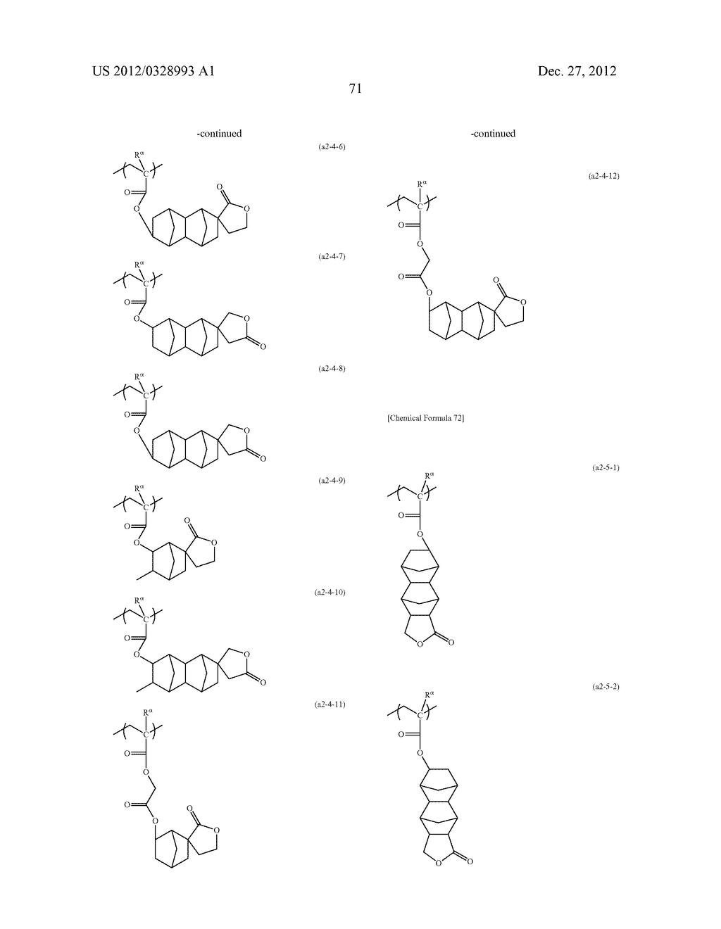 METHOD OF PRODUCING POLYMERIC COMPOUND, RESIST COMPOSITION, AND METHOD OF     FORMING RESIST PATTERN - diagram, schematic, and image 72