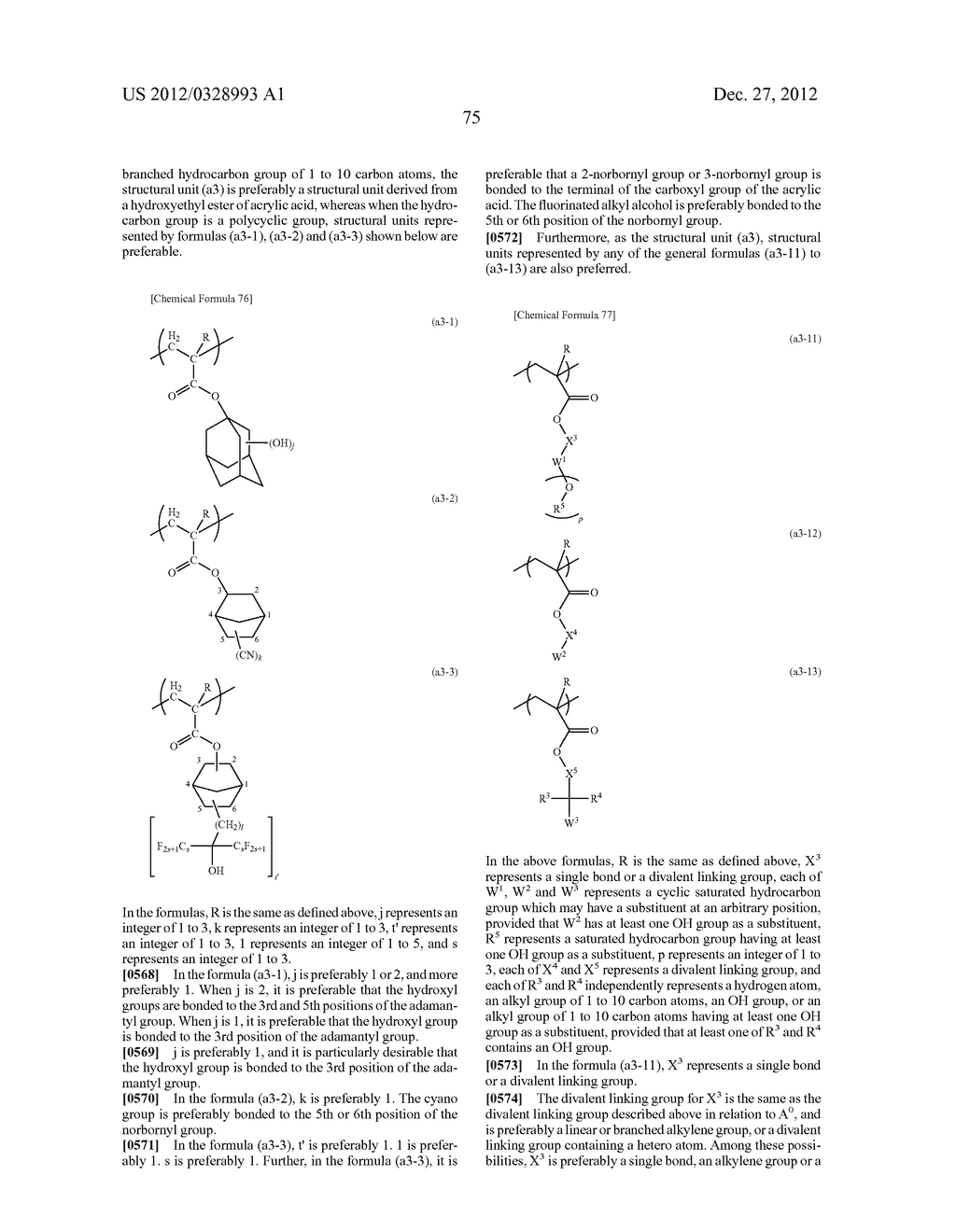 METHOD OF PRODUCING POLYMERIC COMPOUND, RESIST COMPOSITION, AND METHOD OF     FORMING RESIST PATTERN - diagram, schematic, and image 76