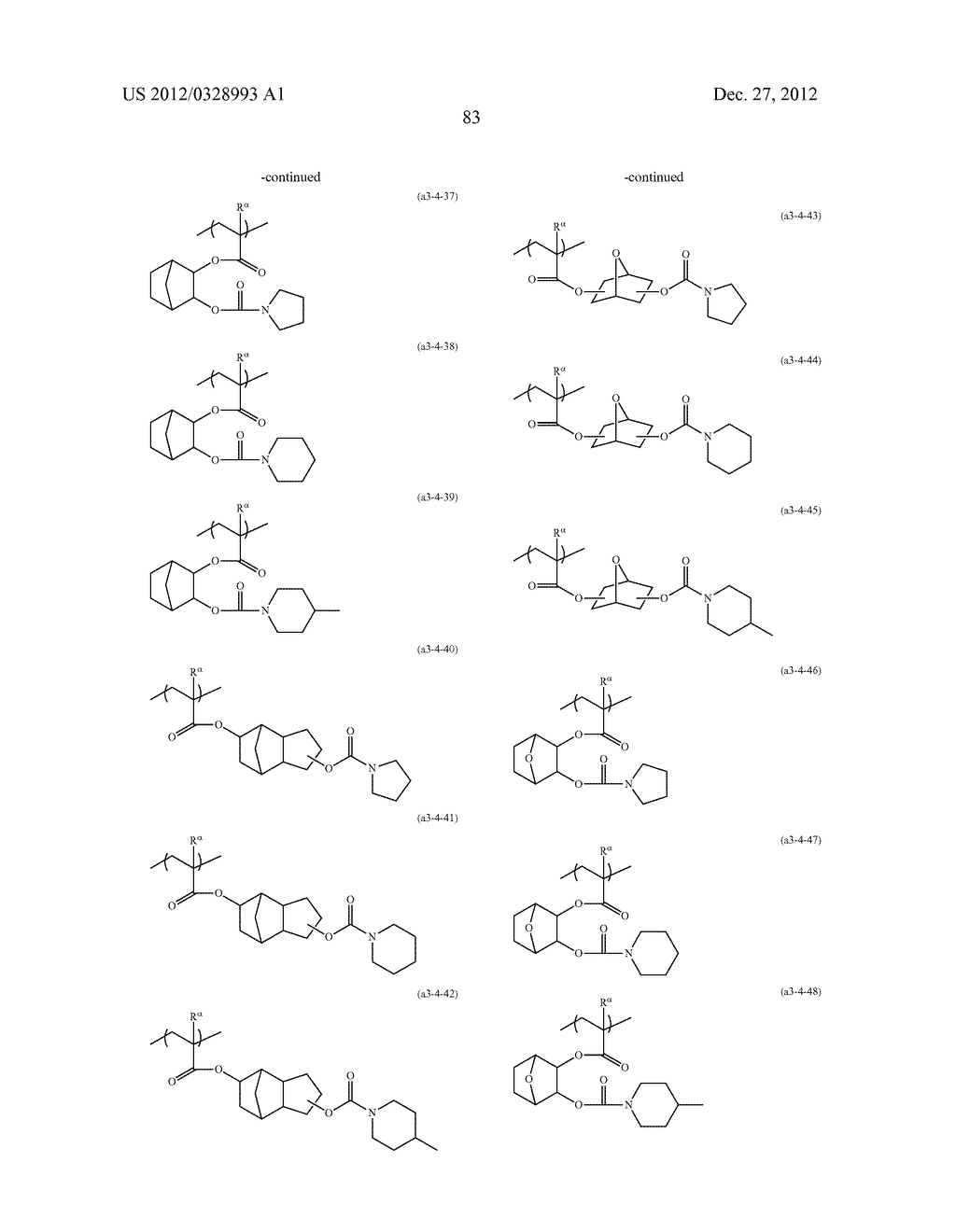METHOD OF PRODUCING POLYMERIC COMPOUND, RESIST COMPOSITION, AND METHOD OF     FORMING RESIST PATTERN - diagram, schematic, and image 84