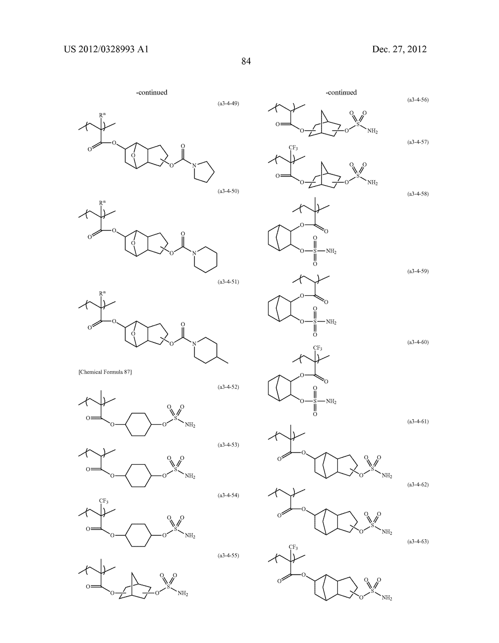 METHOD OF PRODUCING POLYMERIC COMPOUND, RESIST COMPOSITION, AND METHOD OF     FORMING RESIST PATTERN - diagram, schematic, and image 85