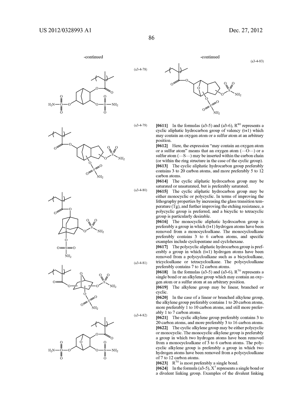 METHOD OF PRODUCING POLYMERIC COMPOUND, RESIST COMPOSITION, AND METHOD OF     FORMING RESIST PATTERN - diagram, schematic, and image 87